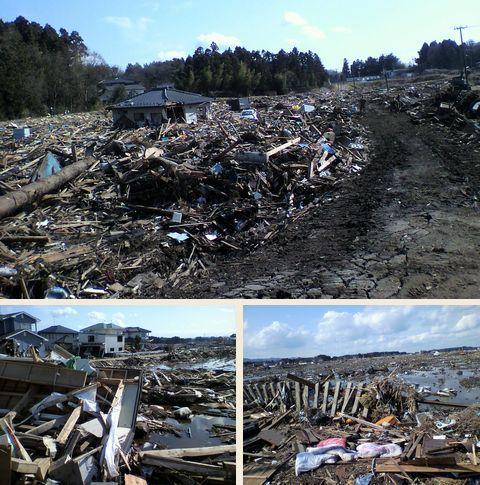 福島県相馬 津波の被害